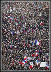 je suis charlie - Paris crowd