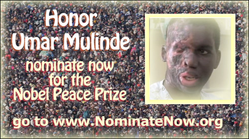 Umar Mulinde - nominate now for the Nobel Peace Prize